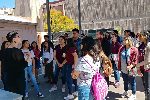 Students on Art tour of ASU