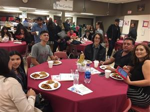 Students and parents at A-Team banquet