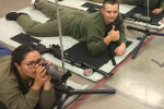 KHS rifle team in action