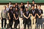 SLHS SkillsUSA region winners pose with their medals.