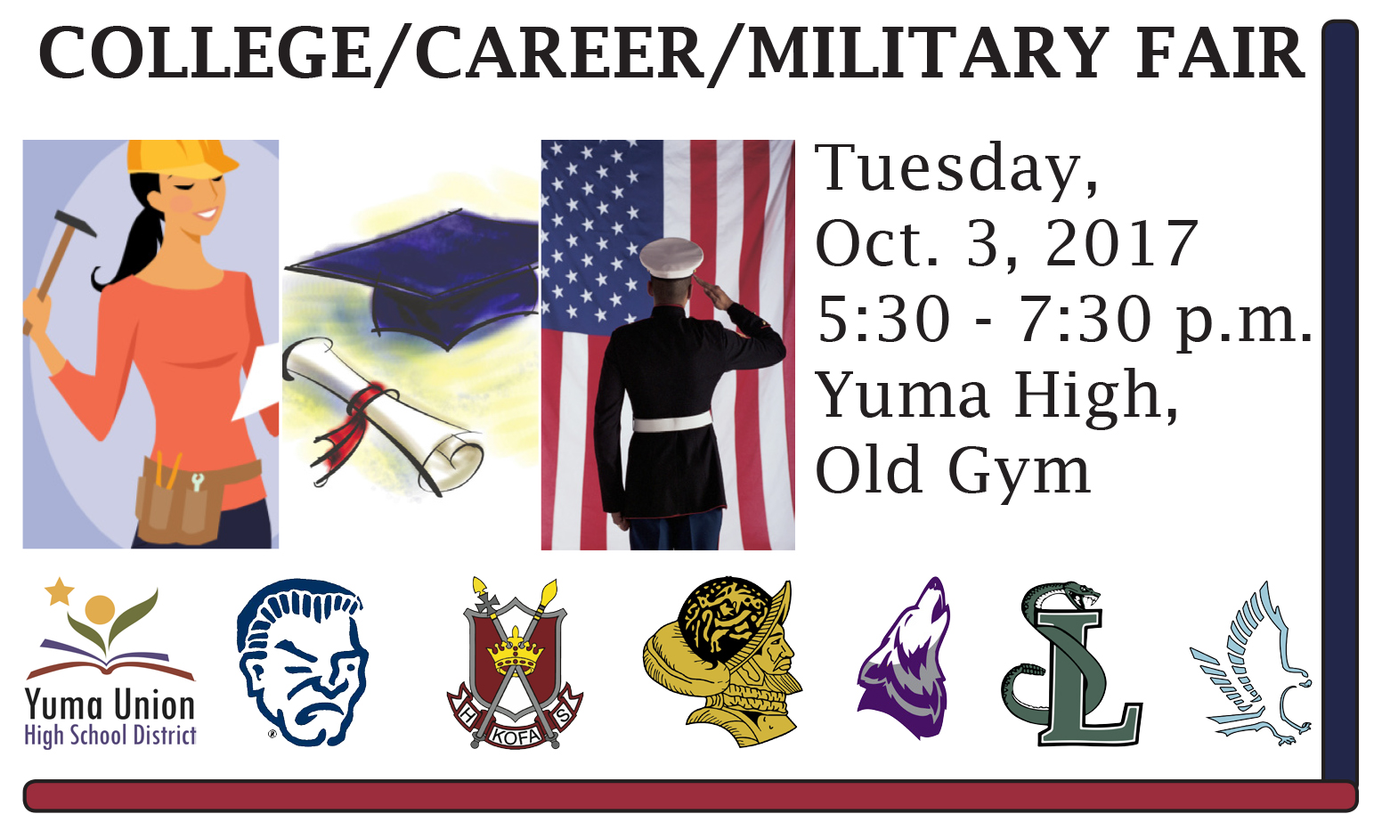 College, Career & Military Night Flyer
