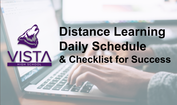 Distance Learning Daily Schedule and Checklist for Success