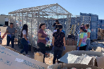 YHS students help at habitat for humanity