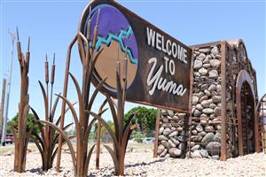 YHS welcome to Yuma sign