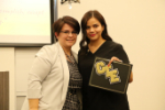 CHS nursing student receives certificate from Ezra Mendoza
