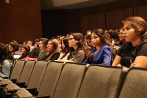 Students in audience at UA Health Sciences Day