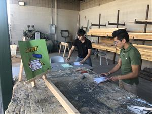 Construction students from SLHS at the first-ever YUHSD construction competition