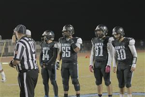 Gila Ridge players at coin toss