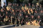 JROTC chapter poses with trophy