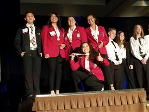 SkillsUSA students celebrating their medals