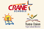 YUHSD, Crane and D1 logos