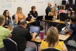 Teachers work together at NTC session