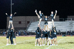 GRHS cheer at a football game