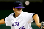 Jorge Perez pitching at GCU