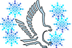 GRHS logo with snowflakes