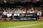 GRHS baseball and softball teams at Chase Field
